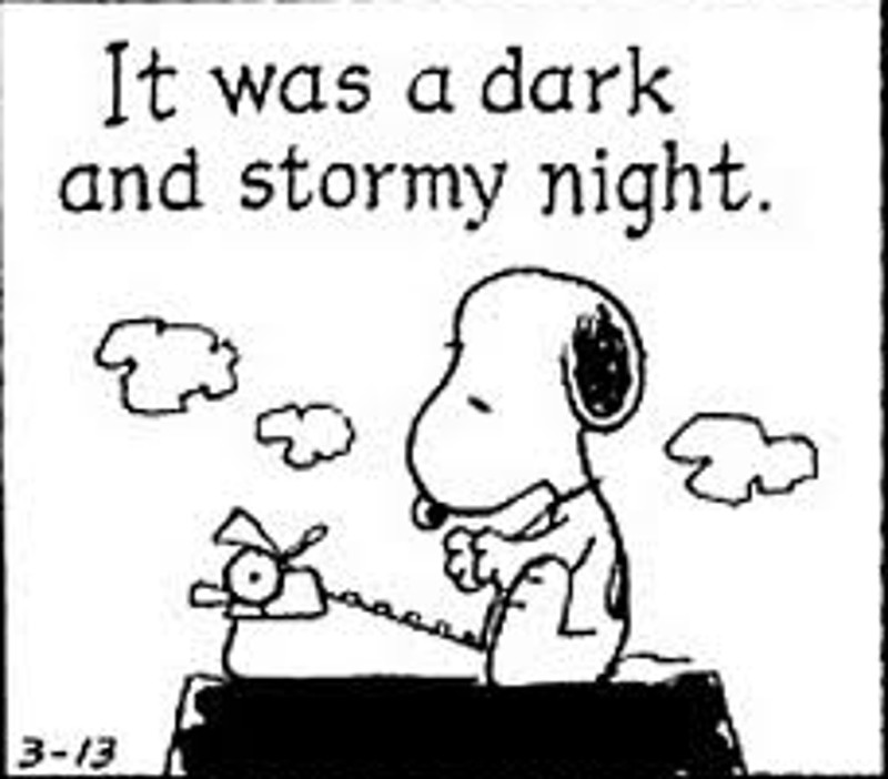 it was a dark and stormy night essay It was a dark and stormy night dark like when the lights went out in the haunted house and you were stuck there with wanda the blonda, who had the iq of.